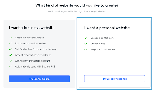 what kind of website would you like to create?