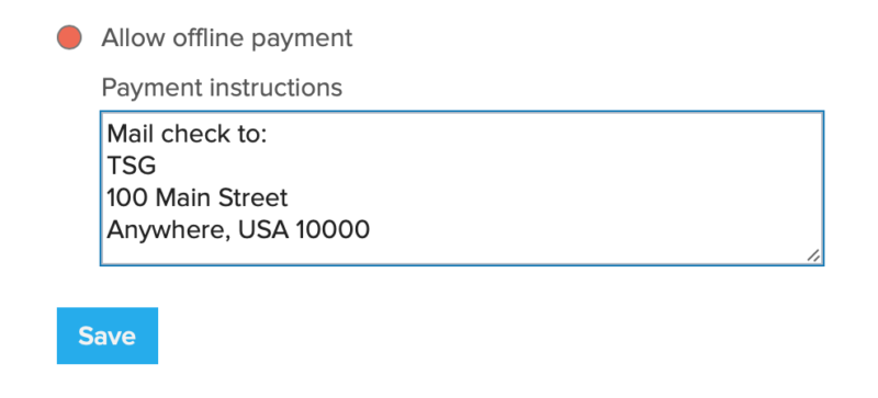 event offline payment option