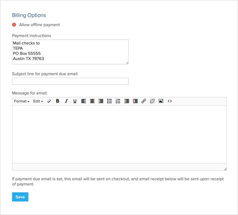 form billing options