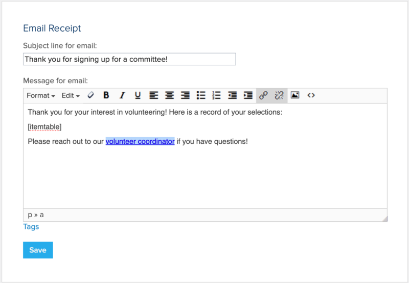 committee join form email receipt