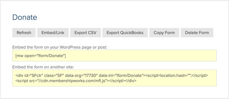 HTML5 donation form
