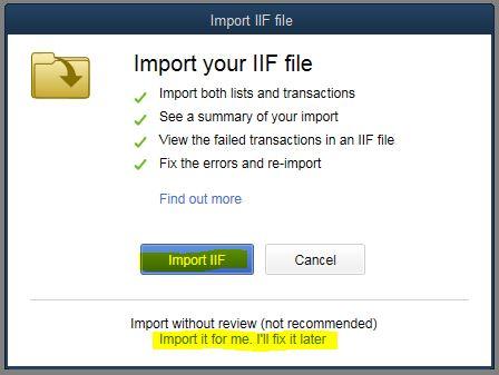 import quickbooks iif