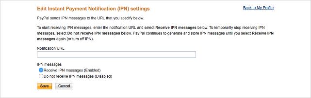 Paypal Payments Pro Setup IPN