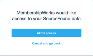Xero allow access