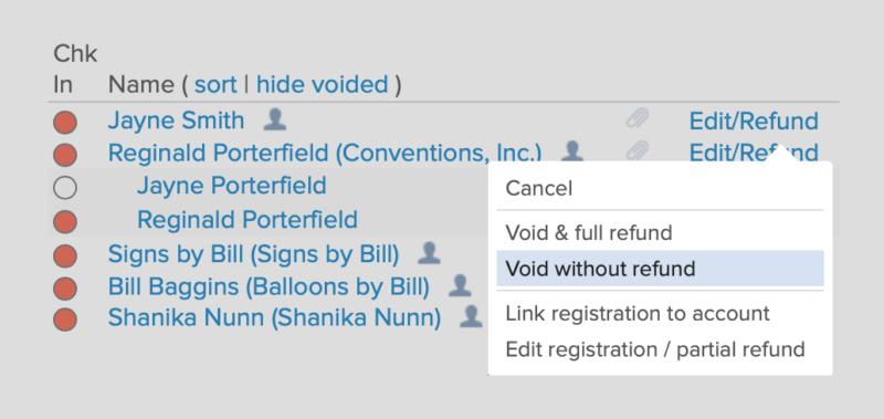 void ticket without refund